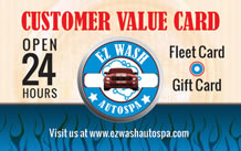 EZ Wash Customer Service Card